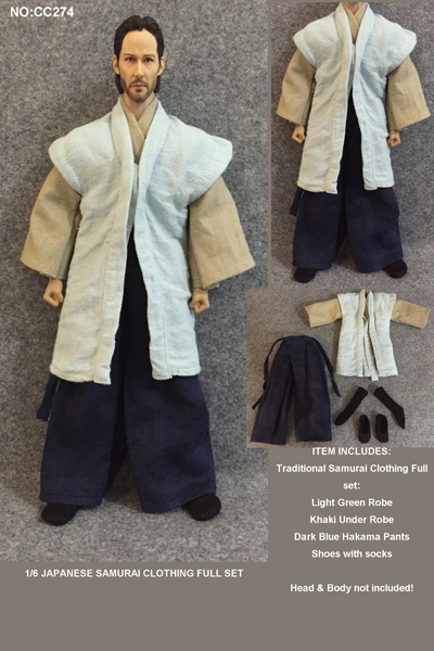 CC274 1 6 Figure Clothes Japanese Samurai Clothing Full Set